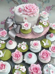 Celebration Cake (flowers & butterflies)