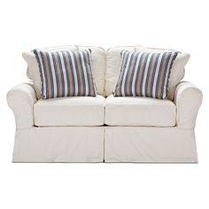 Living Room Furniture-Salinas Natural Loveseat