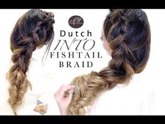★Cute Dutch BRAID into CHUNKY Fishtail Braids Hairstyle | Spring HAIRSTYLES - YouTube