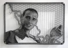 Lace Portrait by Pierre Fouché textiles portraits lace