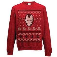 Buy Unisex Official Marvel Iron Man Fair Isle Christmas Jumper at online store Christmas Jumpers, Ugly Christmas Sweater, Pulls, Iron Man, Graphic Sweatshirt, Marvel, Unisex, Sweatshirts, Stuff To Buy