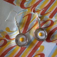 Oorbellen gebakken eieren in Pan. Leuk voor de Foute Party. Ook leuk voor 11-11 en voor Carnaval in o.a. Oeteldonk.