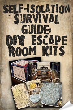 We're all locked in. That's a fact. Here's how to entertain your family and friends throughout the apocalypse by transforming your home into a DIY escape room.  1. Choose a survival escape kit to download. Printer decal 2. Print it out from using your home printer Party hat decal 3. Survive the apocalypse together with a few laughs.  #diyescaperoom #escaperoom #escapegame #homeescaperoom #kidsparty