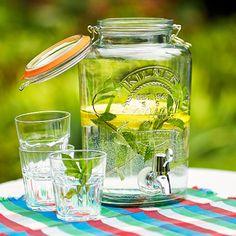 KILNER Getränke Spender für 5 Liter - Gläser