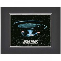Star Trek: The Next Generation Enterprise Matted Photo   Shop By Series   The Next Generation   Star Trek Store