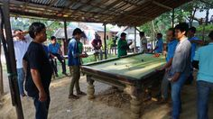 Billard au Laos