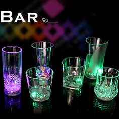 7 Color LED Flash Light Whisky Shot Drink Glass Cup Beer Bar Party Wedding Club #Unbranded