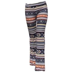 Trendy Elastic Waist Geometric Print Slimming Women s Pants (€9,38) ❤ liked on Polyvore featuring pants, elastic waist pants, slim fit trousers, elastic waist trousers, slim trousers and stretch waistband pants