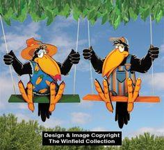 All Yard & Garden Projects - Teenage Crow Swingers Pattern Wood Craft Patterns, Wooden Pattern, Easy Woodworking Ideas, Woodworking Projects, Teds Woodworking, Woodworking Apron, Woodworking Clamps, Woodworking Videos, Wood Yard Art