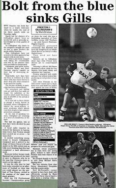 Preston NE 1 Gillingham 0 in Nov 1996 at Deepdale. Newspaper report on the Division 2 clash.