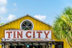 The old Tin City sign in downtown Naples, Florida.  || #AlexTonettiPhotography #Photography