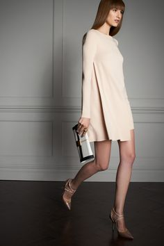 1960s style Mini Neutral Dress #trend I Elie Saab Resort 2014 #fashion #resort2014