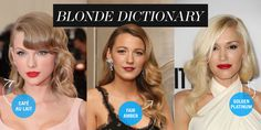 Celebs model every different shade of blonde, so now you know what to take to your hair stylist next time you want a dye job.