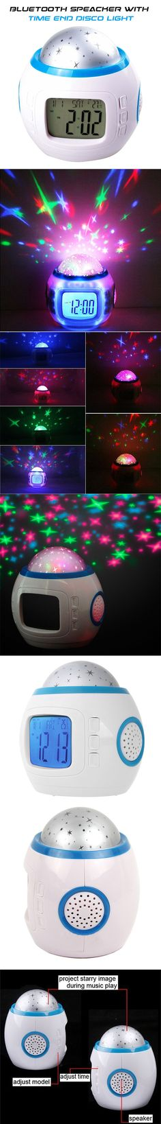 Bluetooth speaker with LED Light, Back light & Time Display at just £4.89 on Xpress Buyer