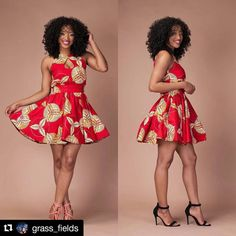 #fashionfind time! I am loving this bold color and pattern! #Repost from @grass_fields with @repostapp    Olamide Dress has been Restock   Available S-4XL  www.grass-fields.com African Wear, African Dress, African Fashion Dresses, African Outfits, Classy Dress, Afro, Gowns, African Prints, Summer Dresses