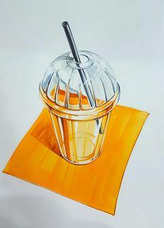투명체 Copic Marker Art, Sketch Markers, Drawing Sketches, Art Drawings, Sketching, Sketch Design, Design Art, Hidrocor, Glass Jewelry Box