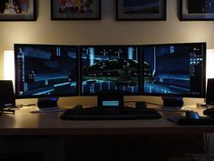 Multiscreen station. Personally, I have two monitors, and I'll never go back to just one.