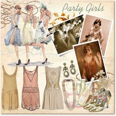 ✢ STYLE ✢ Great Gatsby Party Girls