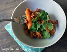 Kääpiölinnan köökissä: Simppeli, gluteeniton texmex-pasta Tex Mex, Pasta, Meat, Noodles, Ranch Pasta