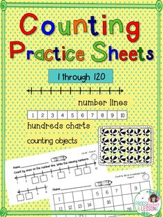 Counting is an important skill in elementary grades! We often touch on it in the beginning of the year, then move on to other skills. With this packet, you can print several sheets to use all year long. Use them in your lessons and in Math Centers. Put some in your Sub Binder and send some home! There are plenty of counting sheets to go around! Click on the picture to see a complete preview and to read all of the great reviews from other teachers!