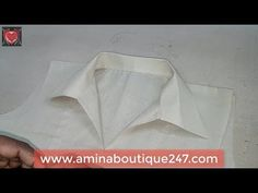 (12) How to Make Gents Collar in Ladies Kameez Cutting and Stitching - YouTube