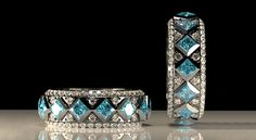 Check out these rendered jewelry pieces created in Jewelry CAD Dream. 3d Design, Turquoise Bracelet, Jewelry Design, Gallery, Cad Cam, Bracelets, Masters, Bands, Master's Degree