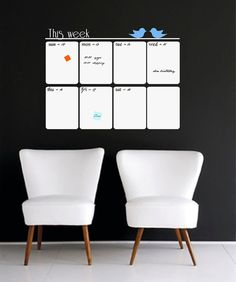 Weekly Planner Whiteboard Vinyl Wall Decal, Organize Your Week - ID411