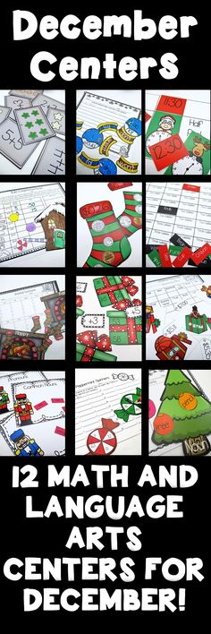December Math and ELA Centers for Second Grade includes 12 centers for both ELA and Math! Cover addition, time, contractions, synonyms, money and much more! https://www.teacherspayteachers.com/Product/December-Math-and-ELA-Centers-for-Second-Grade-2239898