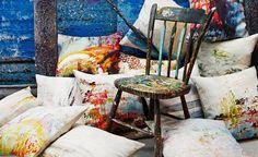 cushions, Jessica Zoob for Romo Black Edition via Cover Magazine