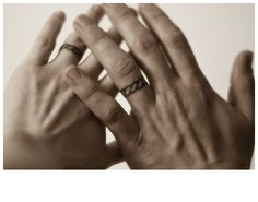 10th anniversary hand poked wedding ring tattoos