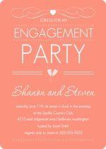Elegant Dusty Rose Engagement Party Invite