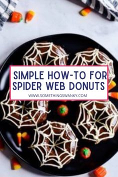 Halloween Donuts, Halloween Desserts, Halloween Halloween, Halloween Treats, Piping Frosting, Frosting Tips, Donut Recipes, Pastry Recipes, Store Bought Frosting
