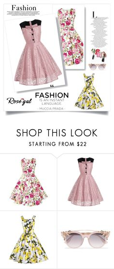 """""""Rosegal 16/II"""" by nermina-okanovic ❤ liked on Polyvore featuring Jimmy Choo, vintage and rosegal"""