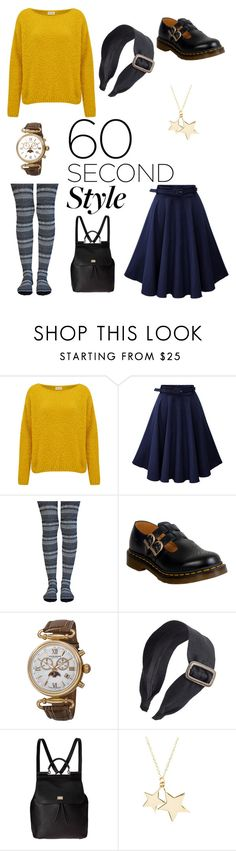 """""""Comfy Thanksgiving 60 Seconds Style"""" by doctorsscarf ❤ liked on Polyvore featuring American Vintage, Lemon, Dr. Martens, Akribos XXIV, Ficcare, Dolce&Gabbana and Latelita"""