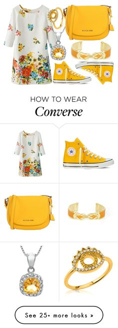 """Untitled #2181"" by claudinesilva-52 on Polyvore featuring Converse, BCBGMAXAZRIA, Kenzo and MICHAEL Michael Kors"