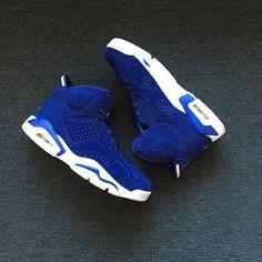 034910abb95d 2018 Newest Air Jordan 6 Royal Blue Suede Shoes For Sale
