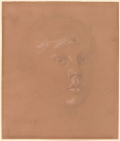 Edgar Degas 1834-1917 Portrait of René De Gas, 1845-1926 ca. 1856 Graphite, heightened with opaque white wash, on light pink paper. 9 3/16 x 7 13/16 inches (234 x 198 mm)