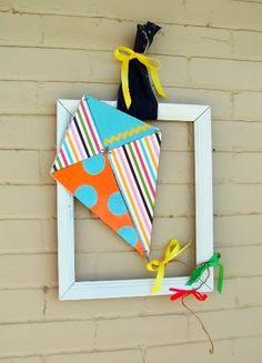 Uma pipa na moldura: decoração para quarto de crianças