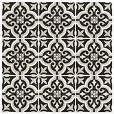 "$2.09. Found it at Wayfair - Lima 8"" x 8"" Ceramic Tile in Classic White and Charcoal Grey"