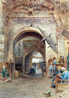Egyptian Artist & Egypt paintings on Pinterest   Egypt, Oil On Canvas and Egyptian Women www.pinterest.com236 × 334Buscar por imagen A street in the souk , Cairo By Henry Sutton Palmer,, British, 1854 - 1933 Watercolor , 34.29 cm X 24.13 cm