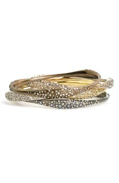 How do I love thee? Let me count the ways. (Alexis Bittar 'Miss Havisham' Encrusted Skinny Bangle $195 each)