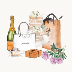 We love illustrator Sally Spratt's series of watercolor drawings inspired by all things lust worthy and covetable. It's a clever way to fulfill that dangerous shopping void - if she can't have them, she draws them!