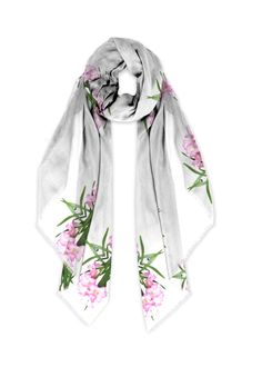Pink Iris Modal Scarf: What a beautiful product! This scarf made with soft, luxurious fabric will add a bold, modern statement to any wardrobe. Created sustainably, it is as versatile as it is eco-friendly.