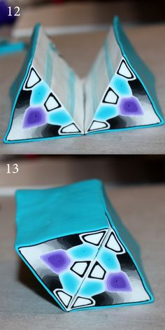 Kaleidoscope Cane  Tutorial - good pictures but translate French. Very good basic skills. #Polymer #Clay #Canes