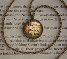 Lord of the Rings Not all who wander are lost on by PendantCrafts, $12.50
