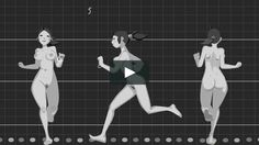 Animated run cycles and walk cycles, produced using Flash©. Music: The swimming song from: Earl Scruggs Review Album, Banjo by Scruggs, Vocals by Wainwright.