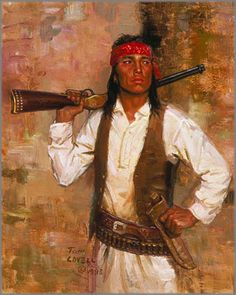 Purchase Tom Lovell - Chiricahua Scout at Gallery One     kK