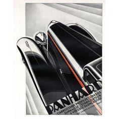 Vintage French Art Deco Automobile print found at www.rubylane.com @rubylanecom