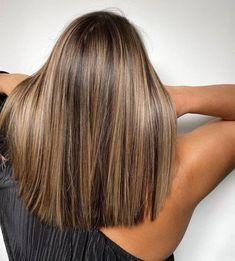 Brown Hair With Blonde Highlights, Brown Hair Balayage, Hair Color Balayage, Hair Colors For Brown Skin, Balayage Brunette Short, Balayage Straight Hair, Blonde Honey, Honey Balayage, Brunette Color