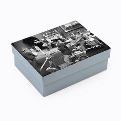 Papel Maché Cuadrada Alta apilamiento cajas con tapas para decorar